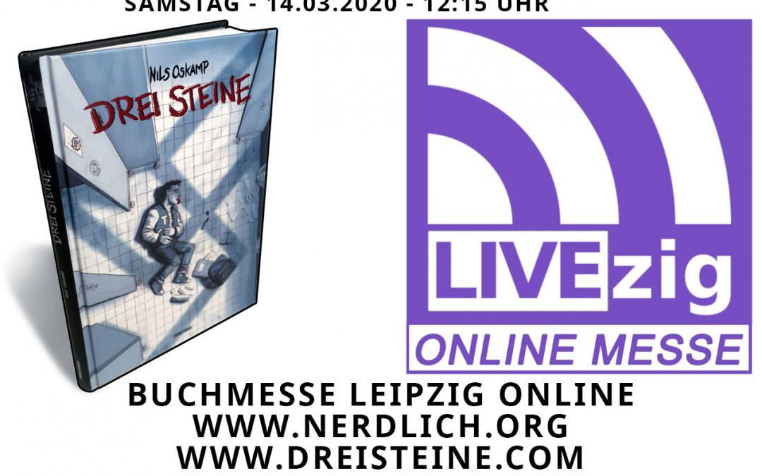 Drei Steine im Livestream LIVEZIG statt Leipzig Buchmesse