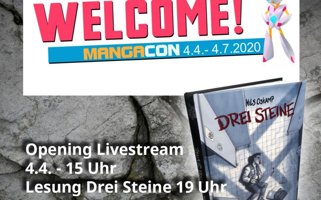 ONLINE CONVENTION – MangaCon – Drei Steine ist dabei