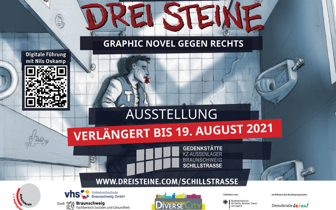 Drei Steine Ausstellung Gedenkstätte KZ-Aussenlager Braunschweig Schillstrasse
