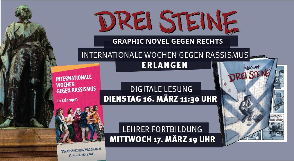Online Lesung und Lehrerfortbildung für Erlangen